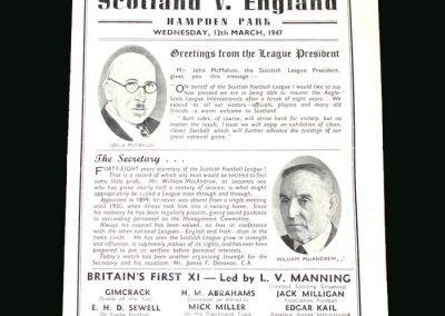 Scottish League v English League 12.03.1947