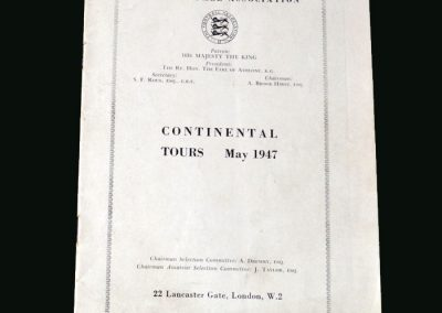 Portugal v England 25.05.1947 (Tour Report)