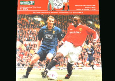 Man Utd v Bury 28.10.98 (League Cup Round 3)