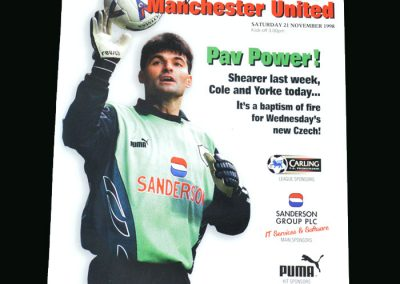 Man Utd v Sheff Wed 21.11.98