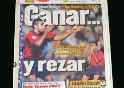 Man Utd v Barcelona 25.11.98 (Champions League Group Stage)