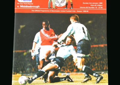 Man Utd v Middlesbrough 03.01.99 (FA Cup Round 3)