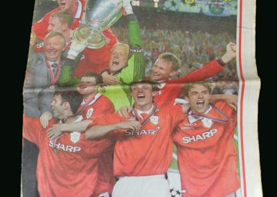 Man Utd Champions League Winners Souvenir Paper
