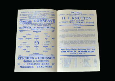 Bradford Park Ave v Middlesbrough 12.09.1942
