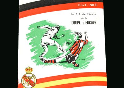 Nice v Real Madrid 04.02.1960 (European Cup Quarter Final)
