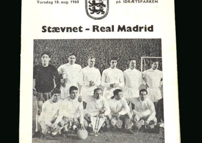 Staevnet v Real Madrid 18.08.1960 (friendly)