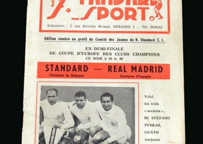Standard Liege v Real Madrid 12.04.1962 (European Cup Semi Final)