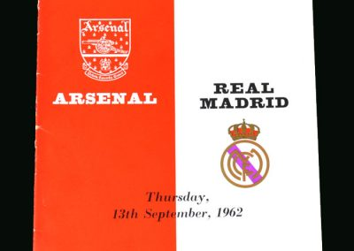 Arsenal v Real Madrid 13.09.1962 (Friendly)