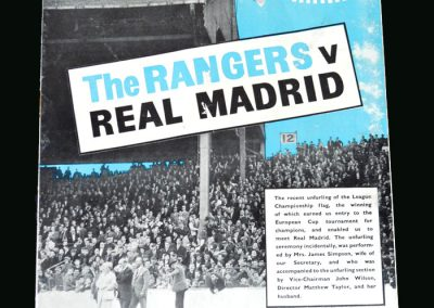 Rangers v Real Madrid 25.09.1963 (European Cup 1st Round)