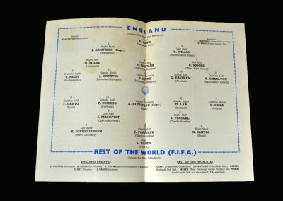 England v Rest of the World 23.10.1963