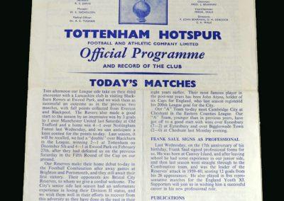 Spurs v Bristol City 27.08.1960