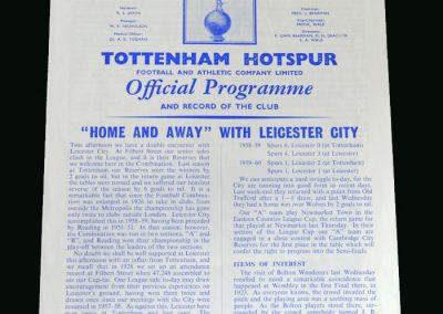 Spurs v Leicester 17.09.1960
