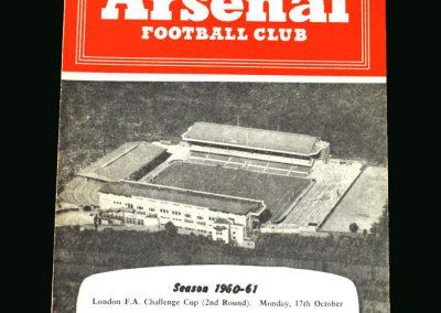 Spurs v Arsenal 17.10.1960 (London Challenge)