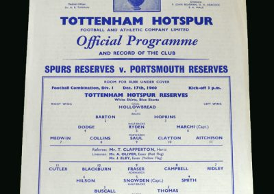 Spurs v Portsmouth 17.12.1960