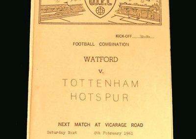 Spurs v Watford 04.02.1961