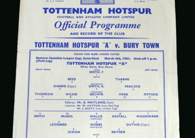 Spurs v Bury Town 04.03.1961