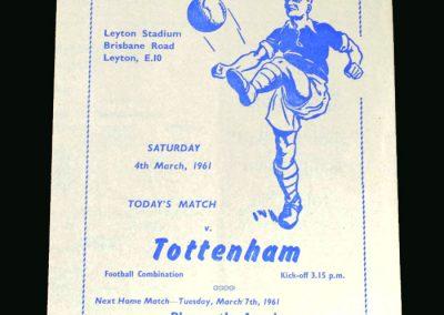 Spurs v Orient 04.03.1961