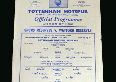 Spurs v Watford 11.03.1961