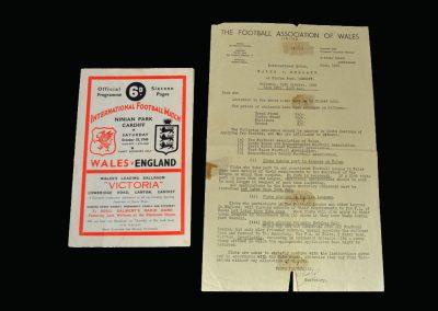 England v Wales 15.10.1949