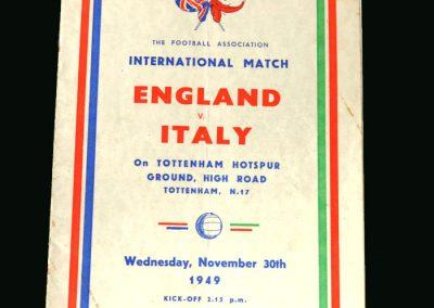 England v Italy 30.11.1949