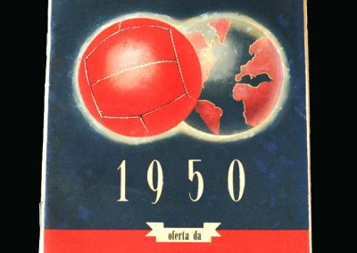 Standard Oil World Cup Tournament Programme 1950