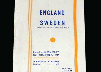 England v Sweden 19.11.1947