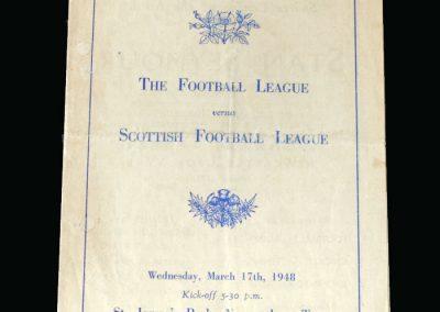 English League v Scottish League 17.03.1948