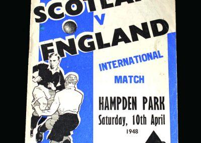 Scotland v England 10.04.1948