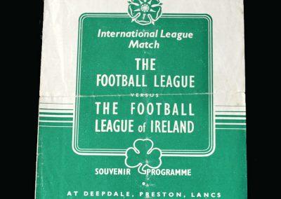 English League v Irish league 14.04.1948