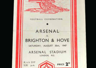 Arsenal v Brighton 30.08.1947