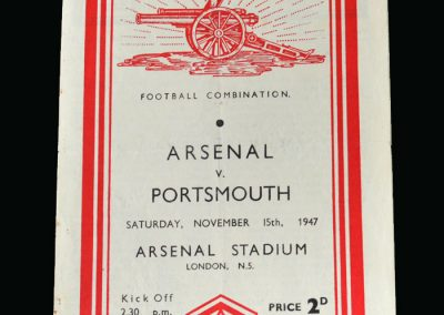 Arsenal v Portsmouth 15.11.1947