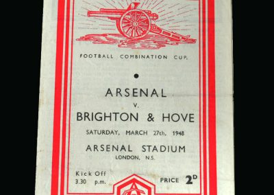 Arsenal v Brighton 27.03.1948