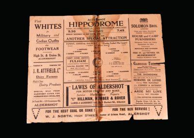 Aldershot v Crystal Palace 06.12.1941