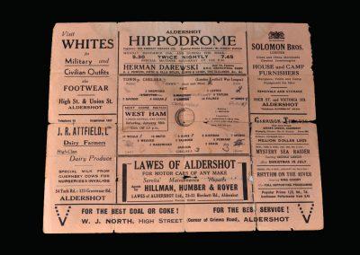 Aldershot v Chelsea 27.12.1941
