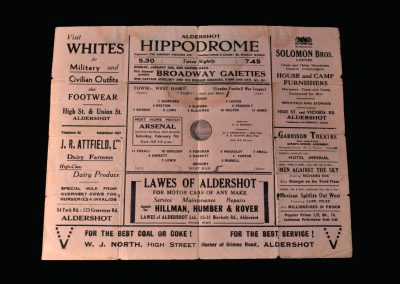 Aldershot v West Ham 10.01.1942
