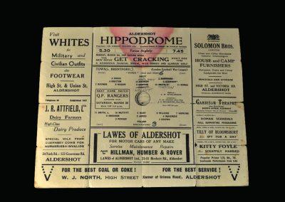 Aldershot v Brentford 07.03.1942