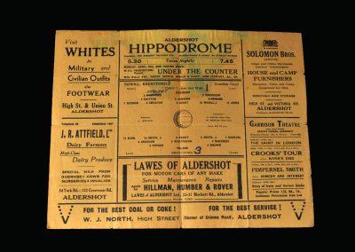 Aldershot v Brentford 18.04.1942