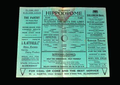 Aldershot v Crystal Palace 14.11.1942
