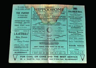 Aldershot v Luton 12.12.1942