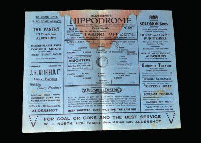 Aldershot v Brentford 30.01.1943