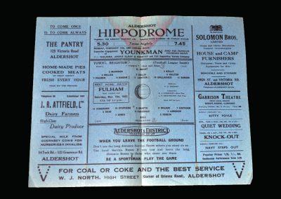 Aldershot v Brighton 13.02.1943
