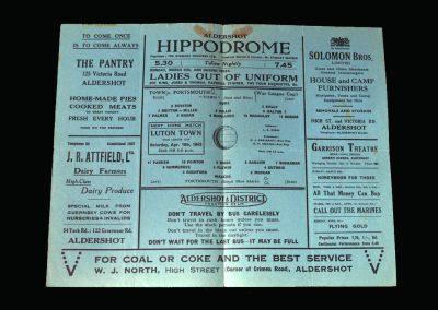 Aldershot v Portsmouth 27.03.1943