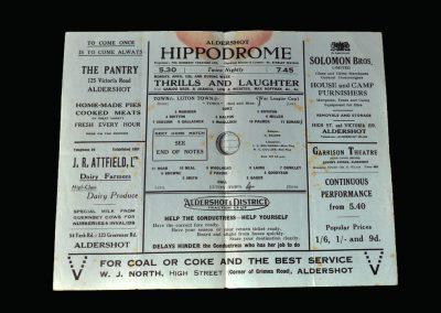 Aldershot v Luton 10.04.1943