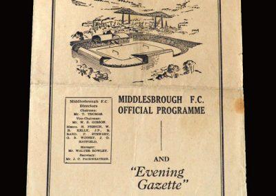 Middlesbrough Reserves v Stockton 30.01.1954