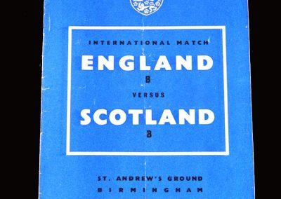 England B v Scotland B 06.02.1957