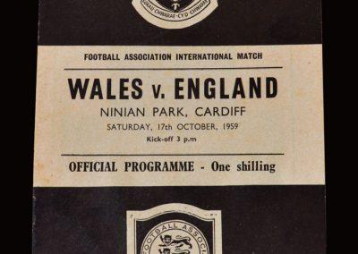 Wales v England 17.10.1959 (Full International Debut)