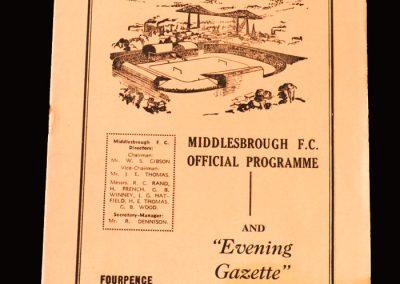 Middlesbrough v Bristol Rovers 21.11.1959 (Hat Trick for Clough)