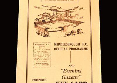Middlesbrough v Brighton 05.12.1959 (2 Goals)