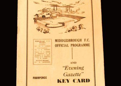 Middlesbrough v Bristol City 13.02.1960 (Hat Trick for Clough)