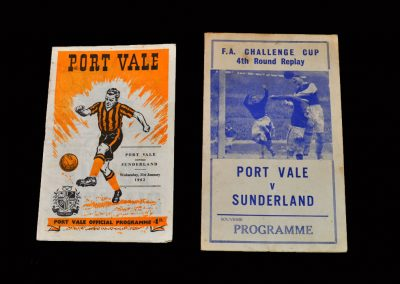 Port Vale v Sunderland 31.01.1962 (& Pirate)